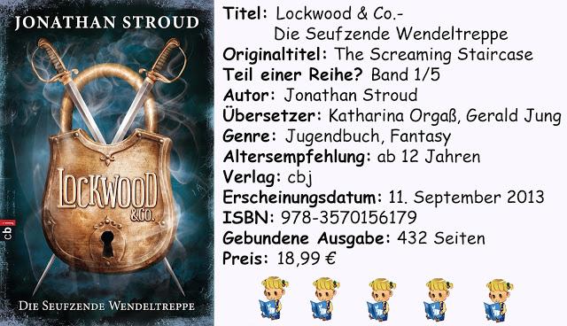 [Rezension] Jonathan Stroud- Lockwood & Co.- Die Seufzende Wendeltreppe (Band 1)