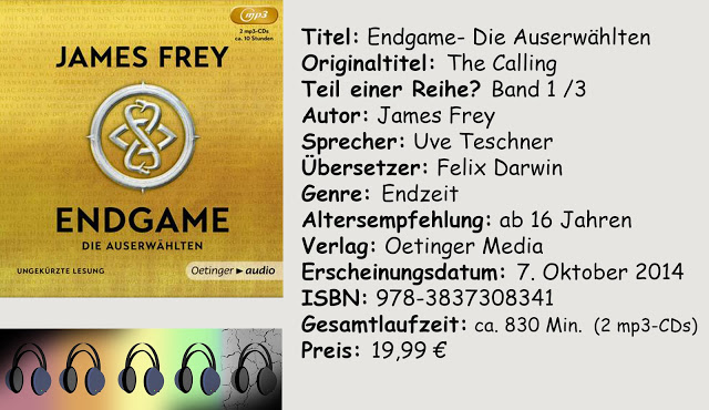 """[Hörbuch-Rezension] """"Endgame- Die Auserwählten"""" von James Frey"""