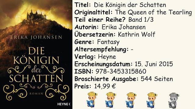 """[Rezension] """"Die Königin der Schatten"""" von Erika Johansen"""
