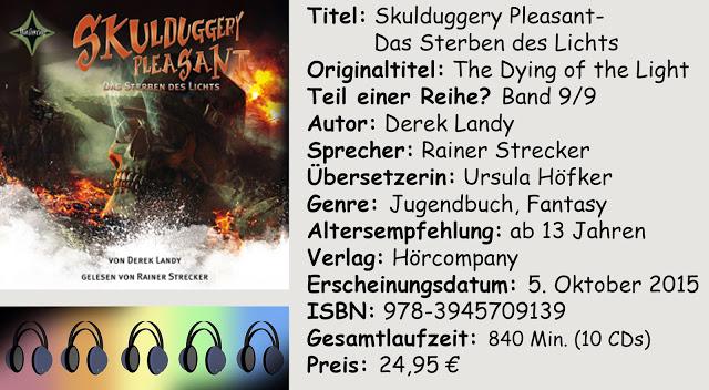 """[Hörbuch-Rezension] """"Skulduggery Pleasant- Das Sterben des Lichts"""" von Derek Landy"""