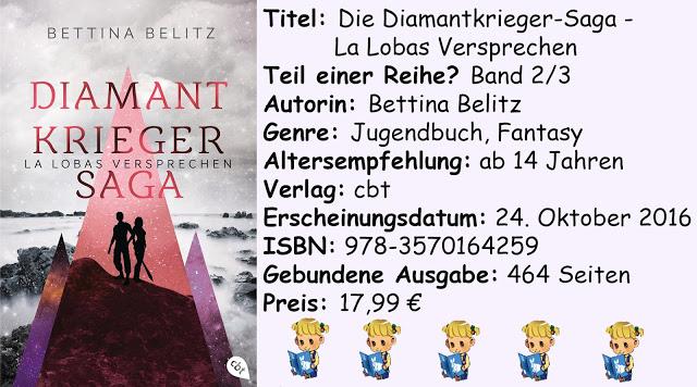 """[Rezension] """"Die Diamantkrieger-Saga- La Lobas Versprechen"""" von Bettina Belitz"""