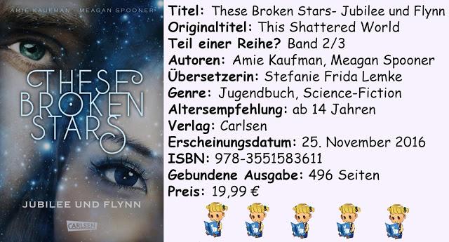 """[Rezension] """"These Broken Stars- Jubilee und Flynn"""" von Amie Kaufman & Meagan Spooner"""