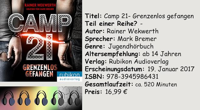 """[Hörbuch-Rezension] """"Camp 21- Grenzenlos gefangen"""" von Rainer Wekwerth"""