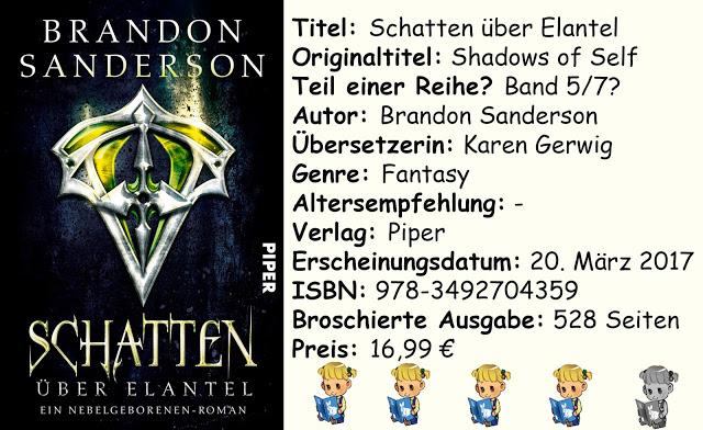 """[Rezension] """"Schatten über Elantel"""" von Brandon Sanderson"""