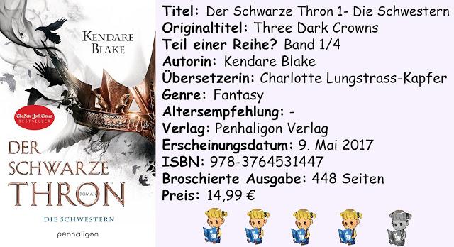 """[Rezension] """"Der Schwarze Thron 1- Die Schwestern"""" von Kendare Blake"""
