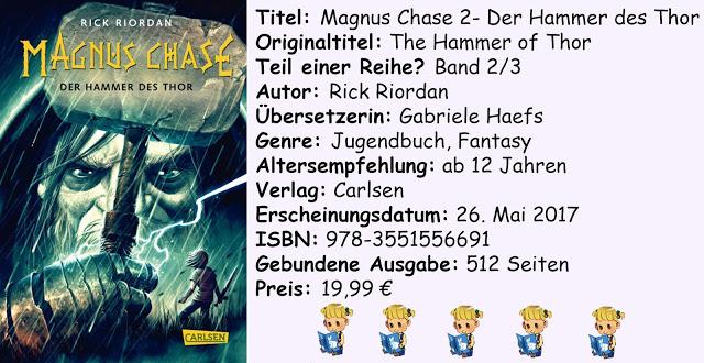 """[Rezension] """"Magnus Chase- Der Hammer des Thor"""" von Rick Riordan"""