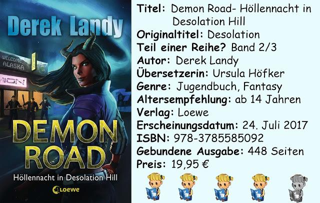 """[Rezension] """"Demon Road- Höllennacht in Desolation Hill"""" von Derek Landy"""