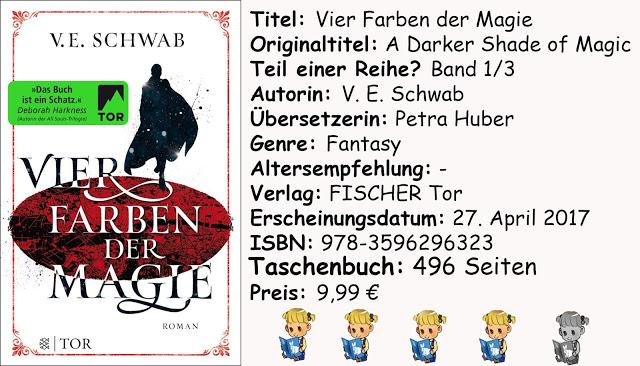 """[Rezension] """"Vier Farben der Magie"""" von V. E. Schwab"""