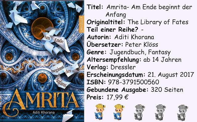 """[Rezension] """"Amrita- Am Ende beginnt der Anfang"""" von Aditi Khorana"""