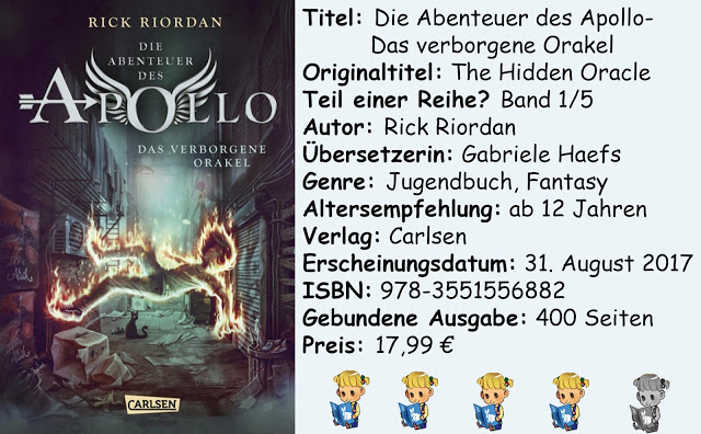 """[Rezension] """"Die Abenteuer des Apollo- Das verborgene Orakel"""" von Rick Riordan"""