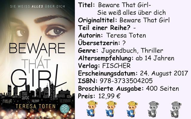 """[Rezension] """"Beware That Girl- Sie weiß alles über dich"""" von Teresa Toten"""