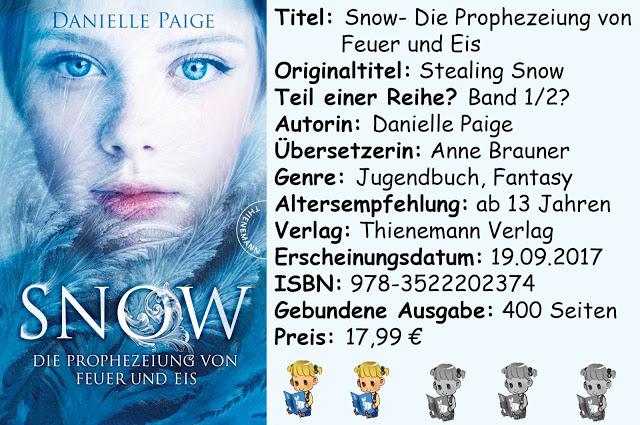 """[Rezension] """"Snow- Die Prophezeiung von Feuer und Eis"""" von Danielle Paige"""