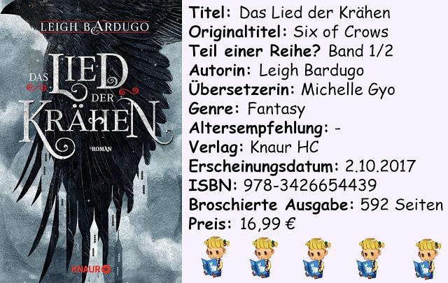 """[Rezension] """"Das Lied der Krähen"""" von Leigh Bardugo"""