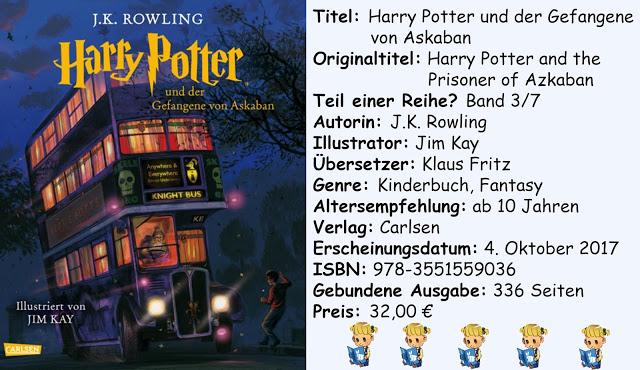 """[Rezension] """"Harry Potter und der Gefangene von Askaban"""" (illustrierte Schmuckausgabe) von J.K. Rowling"""
