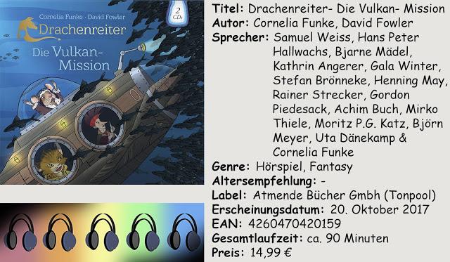 """[Hörspiel-Rezension] """"Drachenreiter- Die Vulkan- Mission"""" von Cornelia Funke, David Fowler"""