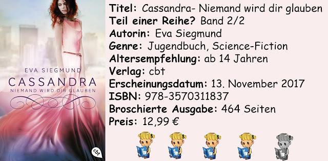 """[Rezension] """"Cassandra- Niemand wird dir glauben"""" von Eva Siegmund"""