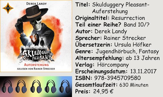 """[Hörbuch-Rezension] """"Skulduggery Pleasant- Auferstehung"""" von Derek Landy"""