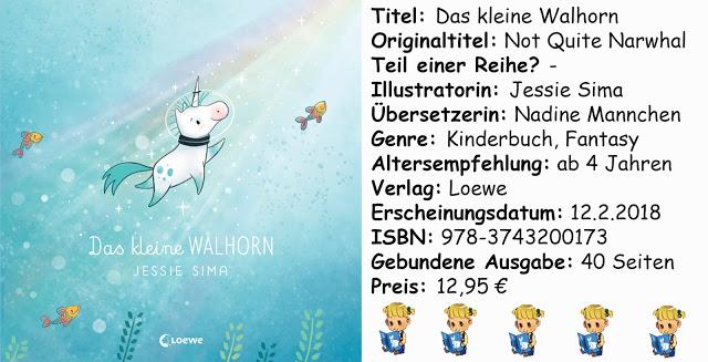 """[Kinderbuch-Rezension] """"Das kleine Walhorn"""" von Jessie Sima"""
