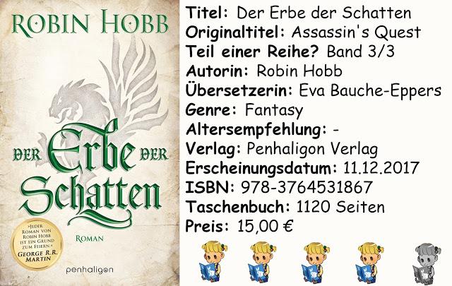 """[Rezension] """"Der Erbe der Schatten"""" von Robin Hobb"""