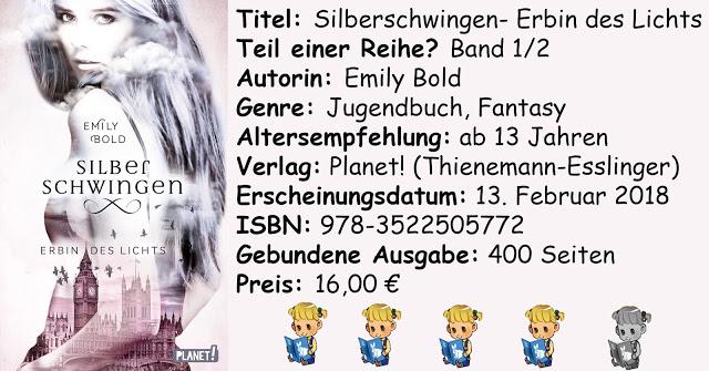 """[Rezension] """"Silberschwingen- Erbin des Lichts"""" von Emily Bold"""