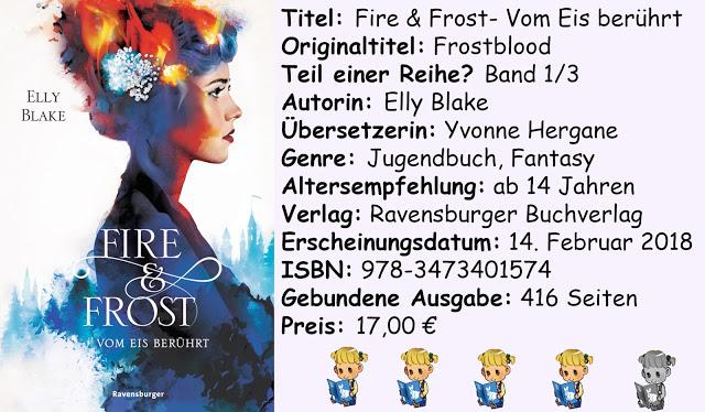 """[Rezension] """"Fire & Frost- Vom Eis berührt"""" von Elly Blake"""