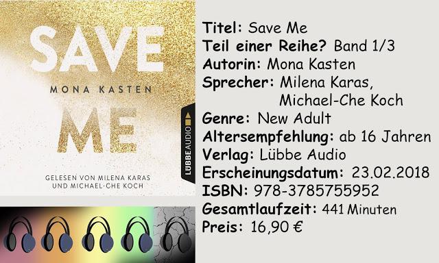"""[Hörbuch-Rezension] """"Save Me"""" von Mona Kasten"""