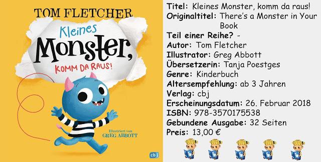 """[Kinderbuch-Rezension] """"Kleines Monster, komm da raus!"""" von Tom Fletcher"""