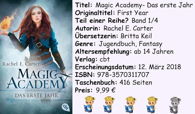"""[Rezension] """"Magic Academy- Das erste Jahr"""" von Rachel E. Carter"""
