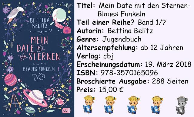 """[Rezension] """"Mein Date mit den Sternen- Blaues Funkeln"""" von Bettina Belitz"""
