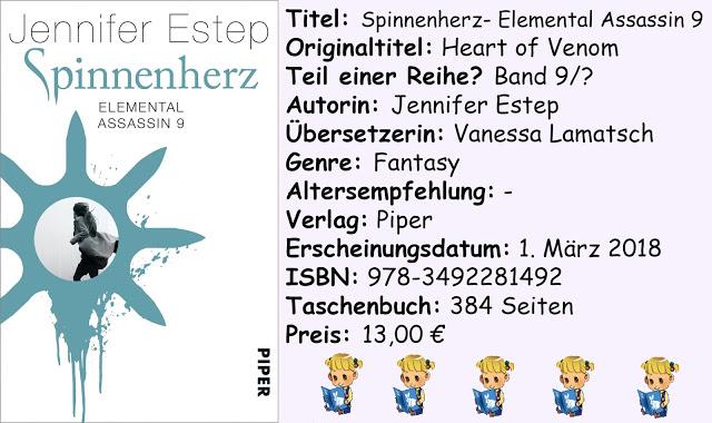 """[Rezension] """"Spinnenherz- Elemental Assassin 9"""" von Jennifer Estep"""