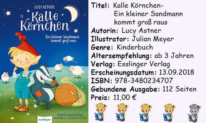 """[Kinderbuch-Rezension] """"Kalle Körnchen- Ein kleiner Sandmann kommt groß raus"""" von Lucy Astner"""