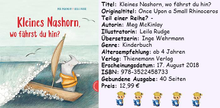"""[Kinderbuch-Rezension] """"Kleines Nashorn, wo fährst du hin?"""" von Meg McKinlay"""
