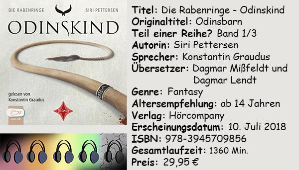 """[Hörbuch-Rezension] """"Die Rabenringe- Odinskind"""" von Siri Pettersen"""